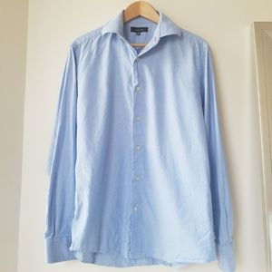 Saks Fifth Avenue Mens Blue Dress Shirt